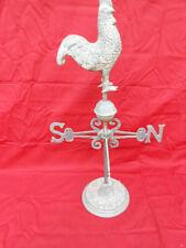 Vintage Rooster Chicken Weathervane on Stand