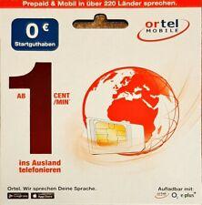 Ortel Prepaid SIM-Karte Guthaben / Tarif Auswahl !!! o2 Netz