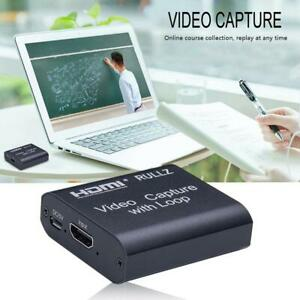 Rullz USB 2.0 HDMI Loop Out Video Capture Card Video Record Game Live Streaming