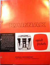 KARNAK Asphalt Products Catalog ASBESTOS Roof Flooring Mastic Waterproofing 1964
