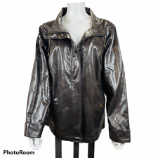 Chico's 3 Zenergy Jacket Women's Size XL/16 Snake Skin Look Full Zipper Pockets
