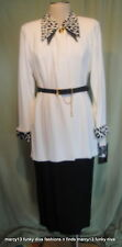 Funky NWT 80's  Farouche Lori Weidner Tunic Power Skirt Suit Sz 12 Bust  38