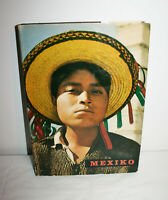VTG 1962 MEXIKO Mexico Harcover Book Removable 100 Paper Photographs in German