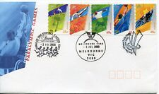 2000 Sydney Paralympic Games (45c & 49c P&S Stamps) FDC - Stawell & Melbourne PM