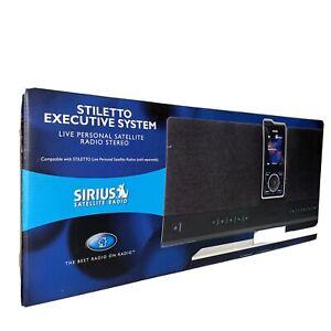 Sirius Stiletto Executive System Portable Satellite Radio Speaker Dock SLEX1