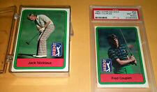1982 Donruss Golf Set 66  Watson Jack Nicklaus Couples RC PSA 8 oc Johnny Miller
