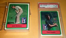 1982 Donruss Golf Set 66  Watson Jack Nicklaus Fred Couples RC PSA 8 oc  Miller