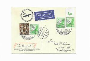 Flugpostk. vom Österr.Sammlerverein-echt gelaufen aus Berlin - WIEN -5.XI.1936-