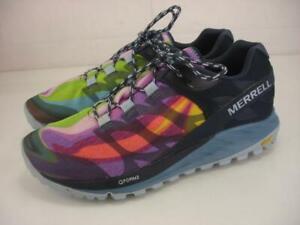 Women's 10 M Merrell Antora Rainbow Colorful Shoes Sneaker Walking HIking Vibram