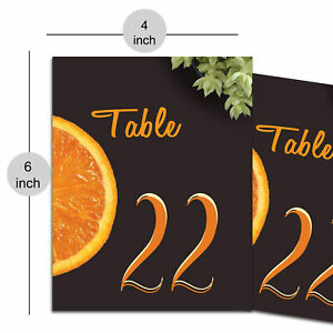 Decorative Table Number Digitally Printed Matte Sheet Table Decorative DIY Craft