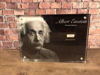ALBERT EINSTEIN 1918 HANDWRITING SIGNED JSA LOA HISTORIC DISPLAY
