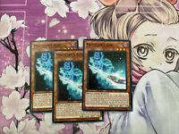 YUGIOH! 3X Magician's Rod 1st Edition Common LED6-EN008 PLAY SET