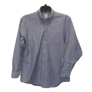 Brooks Brothers 100% Cotton XL Long Sleeve Button Front Button Down Dress Shirt