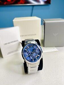 Emporio Armani Classic Watch Navy Blue/Silver Quartz Analog Men's Watch AR2448