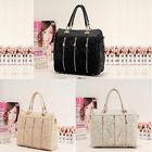 Fashion Women PU Leather Messenger Bag Tote Shoulder Bag Lace Handbag Elegant