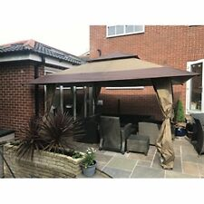 Garden Gazebo Waterproof Canopy Carry Bag On Wheels Porch Top Vent Large 4x4m