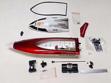 B01R: 1 set mini Rc Racing Boat/AquaCraft Body Parts,Artr,L30cm(12 inch) Red