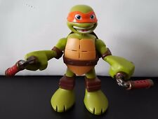 """Viacom 6"""" Talking Teenage Mutant Ninja Turtle Michaelangelo Action Fig Pizza"""