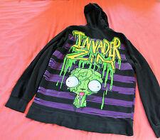 ALIEN INVADER ZIM Green Slime Dog GIR Hoodie Sweatshirt XL Mighty Fine 2009 EUC