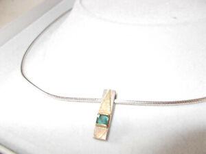 Hand made artisan silver blue topaz pendant very good condition