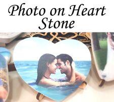 Custom Personalized Photo On Heart Shaped Stone