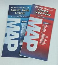 New ListingLot of Two maps Dallas Ft. Worth area circa 2003 Arlington + Grand Prairie