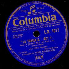 "Lily Pons-Sopran - ""La Traviata"" Ah, L 'è spécifiant/repubblicano Libera 78 tr/min g2921"