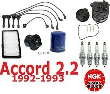 OEM Tune Up Kit For Accord 2.2L 92-93 Filters Pcv Cap Rotors Wires Plugs NEW
