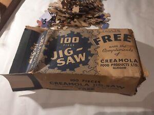 Vintage Boxed CREAMOLA Custard Jigsaw Puzzle COMPLETE 100 pieces GLASGOW