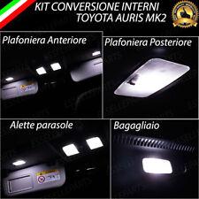 KIT FULL LED INTERNI TOYOTA AURIS MK2 CONVERSIONE COMPLETA 6000K CANBUS NO ERROR