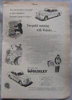 1957 Wolseley Original advert No.1