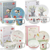 Churchill 3 Piece Earthenware Breakfast Set Bowl Plate & Mug Boxed  Children