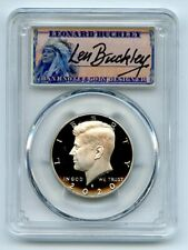 2020 S 50C Kennedy Half Dollar PCGS PR70DCAM First Strike Leonard Buckley