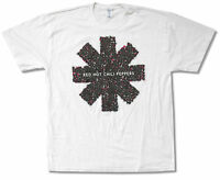 Red Hot Chili Peppers Red Fly Asterisk White T Shirt New Official Xl