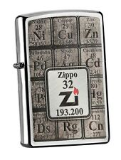 TABLE OF ELEMENTS Chrome Brushed ZIPPO Collection 2016 neu+ovp