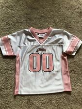 Toddler Girls Pink And White Steeler Jersey Size 4T