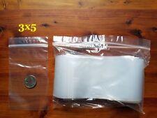 1000 3x5 Zip Bags Clear 2 Mil Poly Reclosable Lock Top Seal Mini Baggies