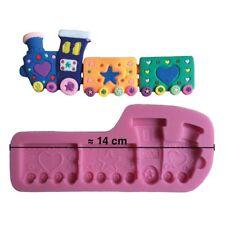 Moule silicone 3D Train pour pâte à sucre, cake design, décoration gateau...
