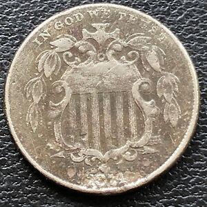 1874 Shield Nickel 5c Circulated #28848