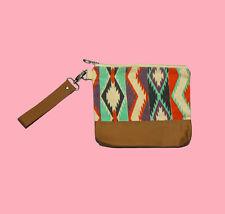 Womens Clothing Colorful Navajo Print Wristlet Pouch Clutch Purse Makeup Bag
