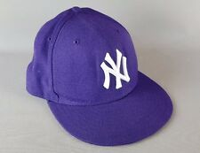 NEW ERA 59FIFTY FITTED CAP. MLB BASIC NY YANKEES. PURPLE 57.7cm 7 1/4""