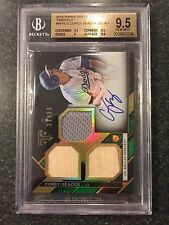 2016 Topps Triple Threads Emerald RC Autograph #33/50 Corey Seager BGS 9.5/10