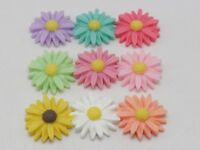 "20 Mixed Color Large Flatback Resin Daisy Flower Sunflower Cabochons 26mm(1"")"