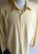 TALBOTS Mens LS Button Front Yellow Shirt Rayon/Poly SZ XL