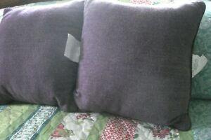 Throw Pillows Lot of 2 Herringbone Purple