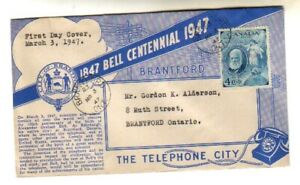 Canada, Alexander Graham Bell,1947 issue,  Beautiful FDC, LOOK