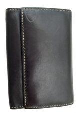 Aspinal of London Leather Keyring Key Holder Wallet Black