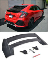 For 16-Up Honda Civic Hatchback MUGEN Style Rear Roof Wing Spoiler & RED Emblem