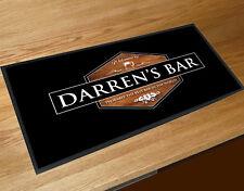 Personalised wood effect hexogan beer label Bar bar runner Pubs & Cocktail Bars