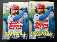 Lot of 2 2020 Topps Update Baseball Hanger Box From Sealed Case 67 Cards Pack